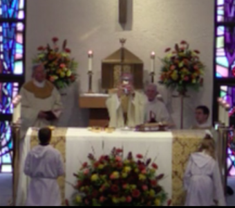 Opening Mass with Bishop Fitzgerald